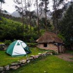 Erstes Camp und unser Zelt