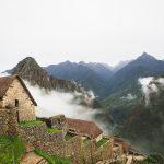Lagerhäuser in Machu Picchu
