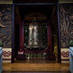 Verzierte Glocke in Tempel
