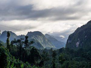 Blick von einem Hügel im Nationalpark