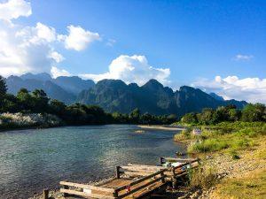 Fluß in Vang Vieng