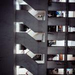 Treppenhaus zu unserem Hotelzimmer