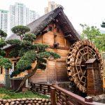 Wasserrad im Nam Lian Garden