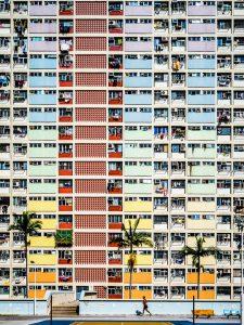 Kunterbunte Wohnhäuser