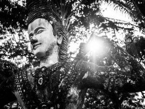 Statue aus dem Buddha-Park