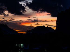 Sonnenuntergang in Vang Vieng