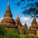 Stupas wohin das Auge schaut