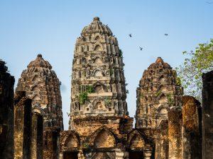 Tauben im Geschichtspark Sukhothai