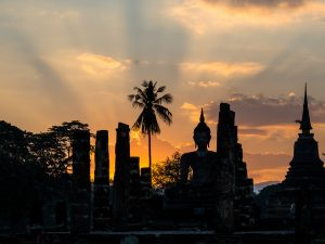 Sonnenuntergang in Sukhothai