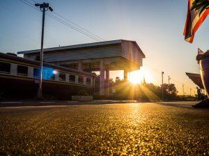 Morgens sieben Uhr in Kanchanaburi