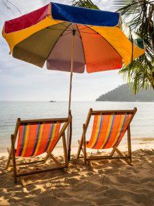 Liegestühle am Bang Bao Beach
