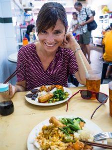 Sabrina ist Glücklich mit unserem Veggie-Restaurant