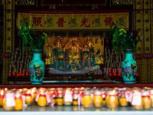 Kerzen im Kuan Yin Temple