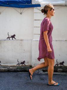 Lauf mit den Kätzchen