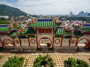 Blick auf die Stadt vom Kek-Lok Tempel