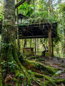 Schutzhütte beim Wandern