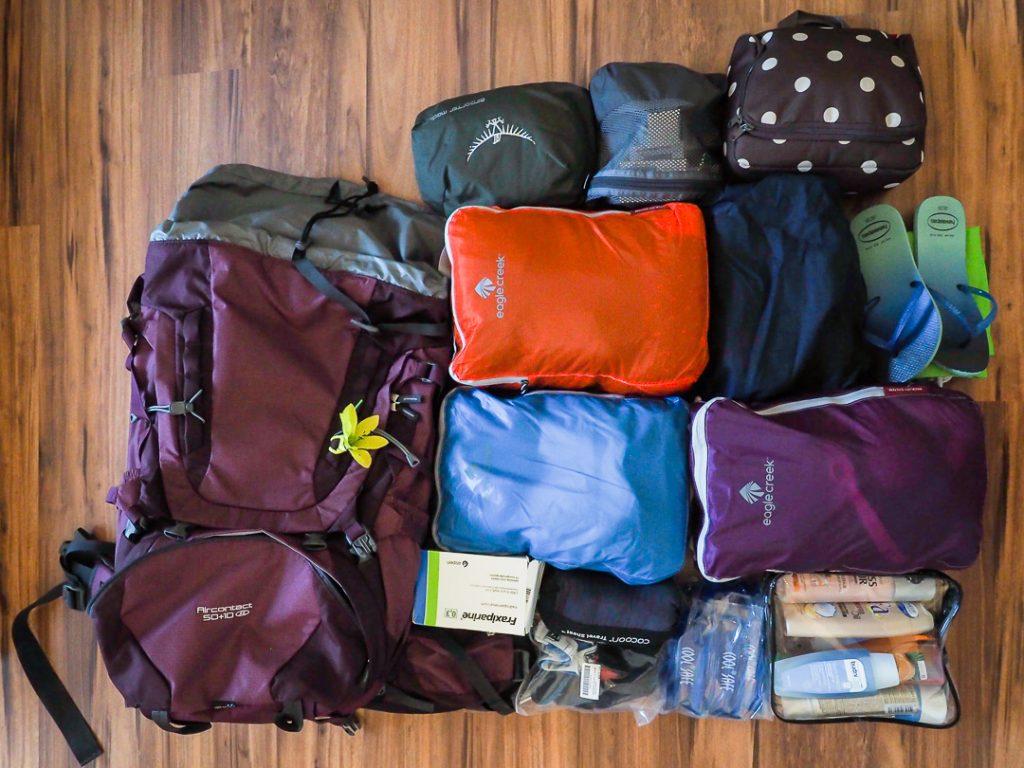 Weltreise Packliste Sabrina