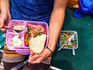 Rechts das Mahl für Veganer... :(