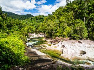Fluss im  Naked Creek