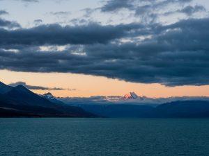 Mount Cook in der Abenddämmerung