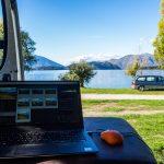 Arbeitsplatz am See