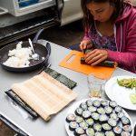 Sushi auf dem Campingplatz
