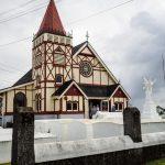 Kirche im Maori-Dorf