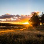 Sonnenuntergang von unserem Tongariro Basecamp aus