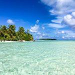 Seichtes Wasser vor der One Foot Island