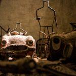 Spielzeug im Untergrund vom zweiten Weltkrieg
