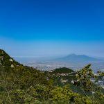 Der Vesuv in der Ferne