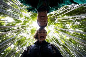 Zwei Bekloppte im Bambus-Wald